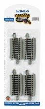 """HO Gauge E-Z Track One-Third Section 18"""" Radius Curved Track (4) - 44530"""