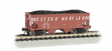 N Gauge USRA 55 Ton 2 Bay Hopper Western Maryland - 19552