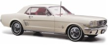 1:18 Scale 1966 Pony Mustang RHD Wimbledon White - 18644