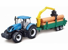 10cm New Holland Tractor T7.315 w/Tree Forwarder - 31655