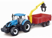 10cm New Holland Tractor T7.315 w/Combination Trailer - 44131657