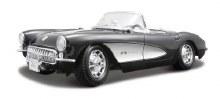 1:18 Scale 1957 Chevrolet Corvette, Black - 31139