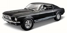 1:18 Scale 1967 Ford Mustang GTA Fastback Black - 31166