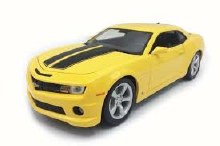 1:18 Scale 2010 Chevrolet Camaro SS RS, Yellow - 31173