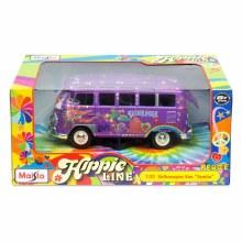 1:25 Scale Hippy Line VW Samba Van Purple - 45332301