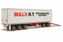 1:64 Scale Bull's NT Refrigerated Express Freight Trailer - 12987