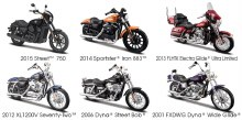 1:18 Scale Harley-Davidson Motorcycles Series 34 Assortment - 313634