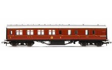 OO Gauge LMS Corridor Brake 3rd Class '5726' Crimson Lake Era 3 - R4805