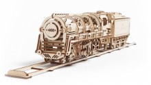Locomotive With Tender 3D Wooden Kit