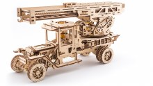 Fire Truck with Ladder 3D Wooden Kit