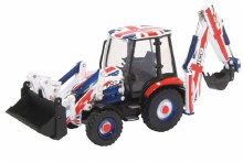 1:76 Scale JCB 3CX Eco Backhoe Loader Union Jack Livery - 763CX002