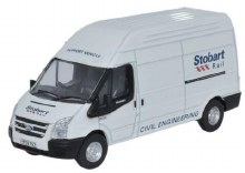 1:76 Scale Ford Transit LWB High Roof Stobart Rail - 76FT010