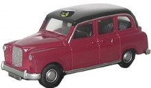 1:76 Scale FX4 Taxi Maroon & Black - 76FX4003