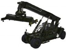 1:76 Scale Konecranes Reach Stacker NATO Green - 76KRS004