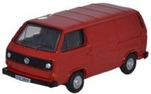 1:76 Scale VW T25 Van Orient Red - 76T25007