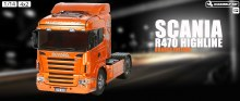 1:14 Scania R470 Highline Orange Edition On-Road Assembly Kit - 56338