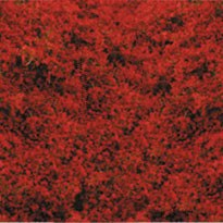 Grass Fibre Red Flowers 28 x 14cm - 1588