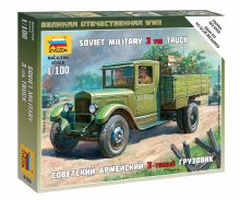 1:100 Scale Soviet Military 3 Ton Truck Snap Fit - 6124