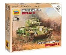 1:100 Scale British Infanty Tank Matilda II Snap Fit - 6171