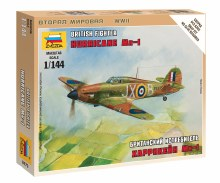 1:144 Scale British Fighter Hurricane Mk-I Snap Fit - 6173