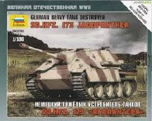 1:100 Scale German Heavy Tank Destroyer SD.KFZ. 173 Jagdpanther Snap Fit - 6183
