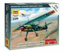 1:144 Scale German Reconnaissance Plane Henschel HS 126B-1 Snap Fit - 6184