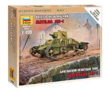 1:100 Scale British Infantry Tank Matilda MK.I Snap Fit - ZV6191