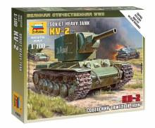 1:100 Scale Soviet Heavy Tank KV-2 Snap Fit - ZV6202