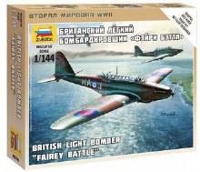 1:144 Scale British Light Bomber Fairey Battle Snap Fit - 6218