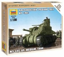 1:100 Scale M-3 Lee US Medium Tank - 6264