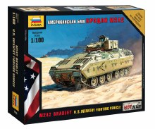 1:100 Scale M2A2 Bradley US Infantry Fighting Vehicle Snap Fit - ZV7406