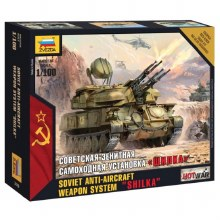1:100 Scale Soviet Anti Aircraft Weapon System Shilka Snap Fit - ZV7419