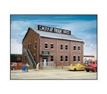 HO Gauge Cornerstone Brick Freight Office Kit - 933-2953
