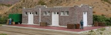 HO Gauge Brick Mission-Style Sante Fe Freight House Kit - 933-4056