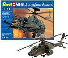 1:144 Scale AH-64D Longbow Apache - 04046