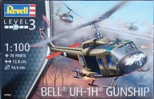 1:100 Scale Bell UH-1H Gunship Helicopter - 04983