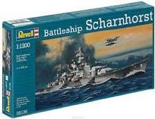 1:1200 Scale Battleship Scharnhorst - 05136
