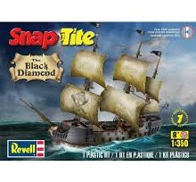 1:350 Scale The Black Diamond Pirate Ship Snap Tite Kit - 85-1971