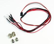 LED Set White/Red with Aluminium holders - AB2320041
