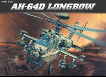1:48 Scale AH-64D Long Bow Helicopter - 12268