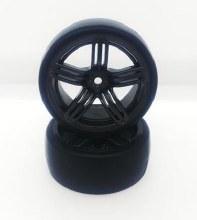 1:10 5 Spoke Gun Metal Drift Wheel