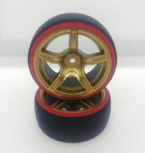1:10 Red/Gold 5 spoke Drift Wheel