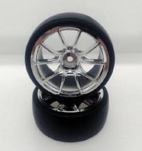 1:10 Chrome 10 Spoke Drift Wheel
