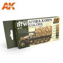 Afrika Korps Colors Acrylics Set - AK550