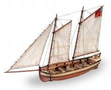 1:50 Scale HMS Endeavour's Longboat - 19015
