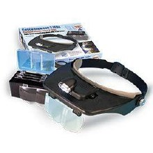 Hands Free Magnifier Glasses With 2 Led Lights - 27054-1