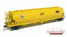 HO Gauge BGSY Standard Gauge Grain Hopper SSR Yellow 3 Pack - BGS05
