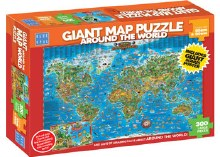 Around The World Giant Map 300pc - BL01881