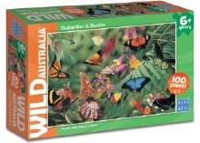 Wild Australia Butterflies & Beetles 100pc - BL01978