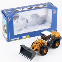 1:50 Scale Yellow Four Wheel Loader - KDW625003